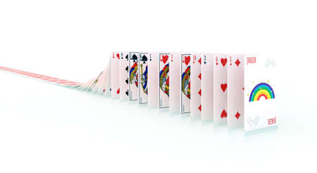 queuing: playing cards in the queue