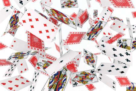 jeu de cartes: cartes � jouer dans l'air