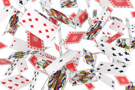 playing cards in the air Stock Photo - 9856858