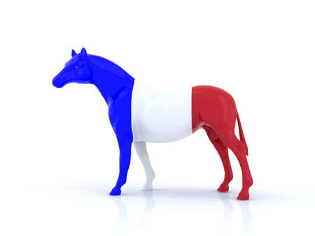 the french horse 3d illustration Stock Illustration - 9856933