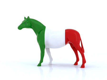 the italian horse 3d illustration Stock Illustration - 9856932