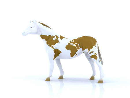 horse with the world on your mantle Stock Photo - 9856811