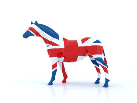 the english horse 3d illustration illustration