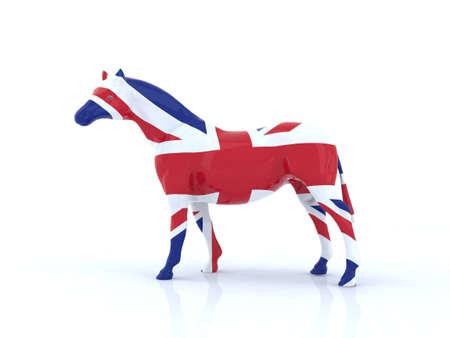 the english horse 3d illustration Stock Illustration - 9856936