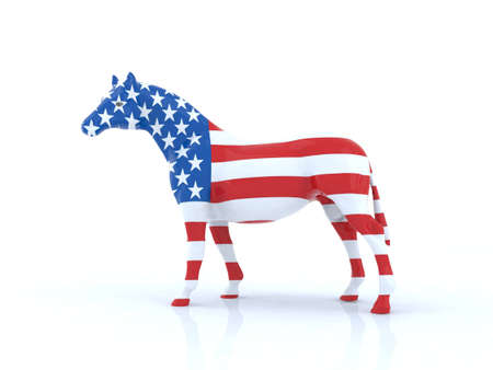 the american horse Stock Photo - 9856828