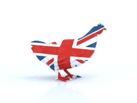 british foods: english hen 3d illustration Stock Photo