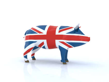 drapeau anglais: De porc 3d drapeau illustration anglais