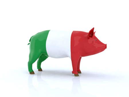 italian pork 3d illustration illustration