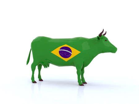 brasil cow 3d illustration