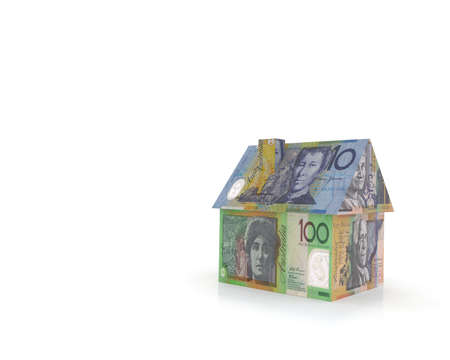 australian home with banknotes 3d illustration Stock Illustration - 10044597