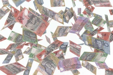 remuneraci�n: d�lar australiano en la ilustraci�n 3d de aire Foto de archivo
