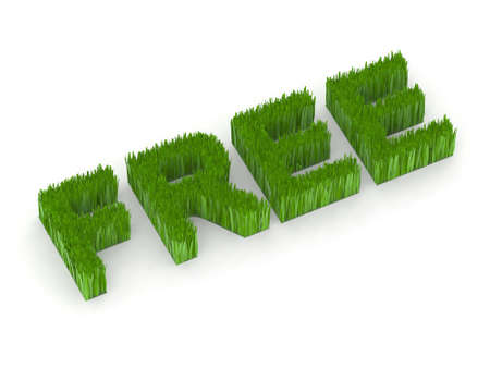 collective bargaining: free written with grass 3d illustration Stock Photo