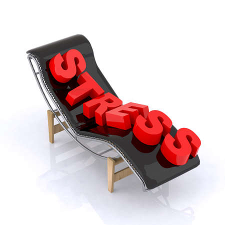 chaise longue with relax written 3d illustration Stock Illustration - 10044615