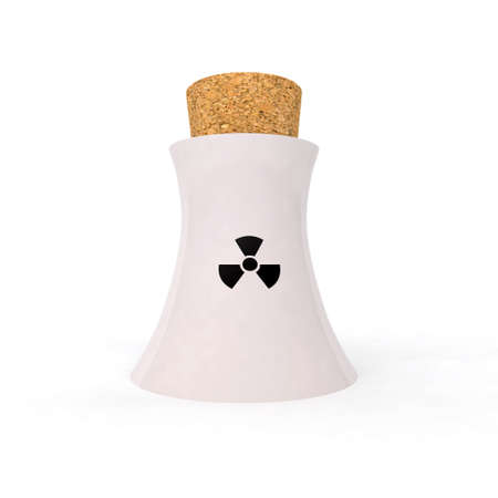 no nuclear: enough with nuclear energy 3d illustration Stock Photo