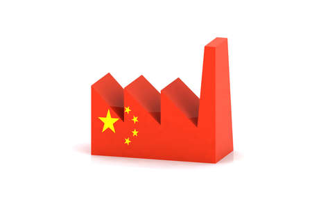 factory power generation: china factory concept icon Stock Photo