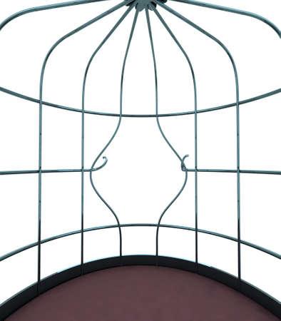 broken bird cage, the concept of escape photo