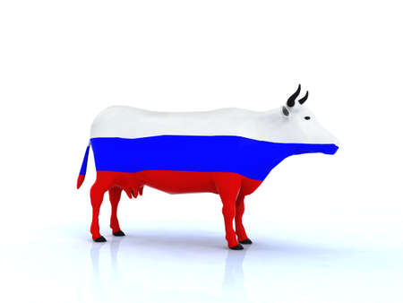 ferment: russian cow 3d illustration