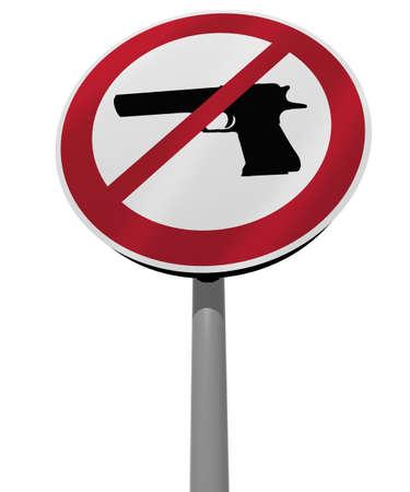 killings: sign arms ban 3d illustration
