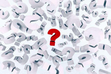 many question marks symbols 3d  photo