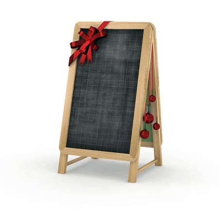 christmas blackboard for restaurant 3d illustration illustration