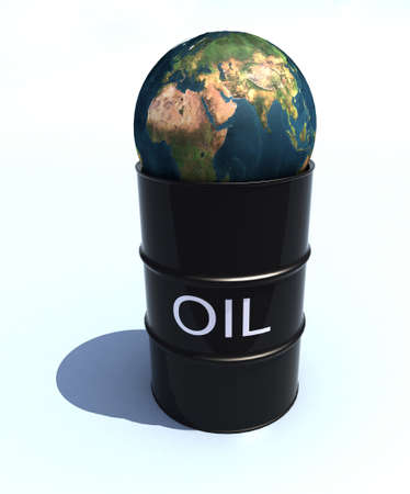 high price of oil: barrel oil with 3d world over
