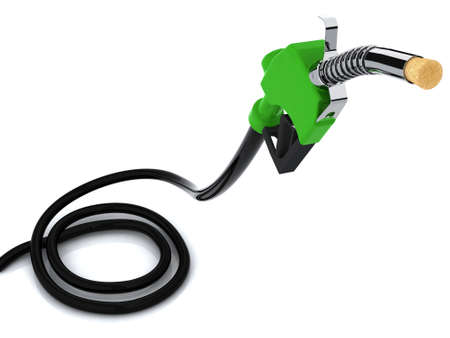 energize: fuel pump with a cork 3d illustration Stock Photo