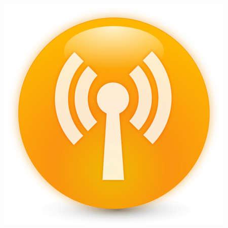 wireless hot spot: wifi symbol 3d sphere Stock Photo
