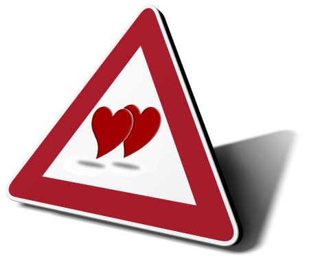 traffic sign love in progress 3d illustration Stock Illustration - 14314981