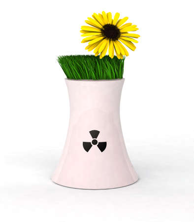3d Illustration symbolizing concept prohibition of nuclear power illustration