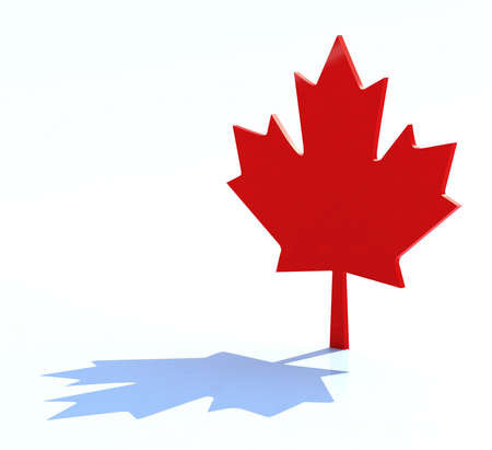 canada day: 3d maple leaf canadian symbol