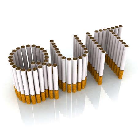 書き込み終了タバコ、3 d イラストで作られました。