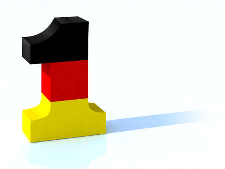 3d number one with german flag photo