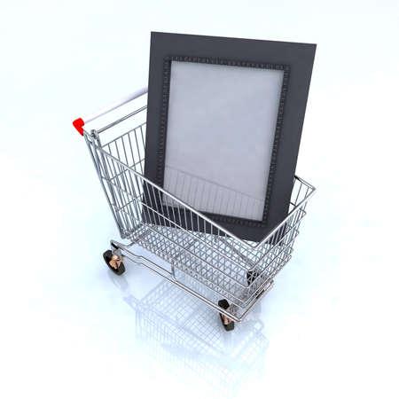 arts shopping online concept 3d illustration illustration