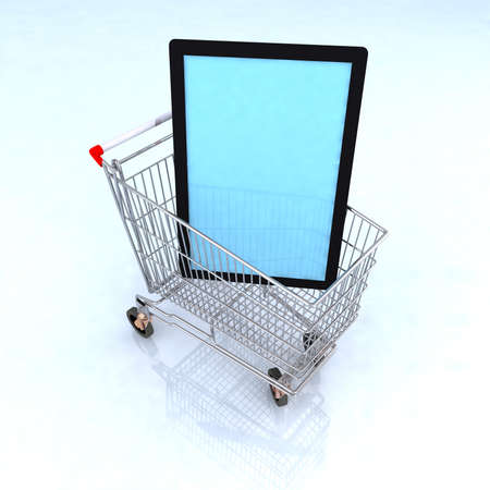 concept ecommerce tv and tecnology 3d illustration Stock Illustration - 14766443