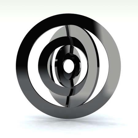 幾何学的な世界のクロム 3 d コンセプト