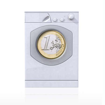 whasing machine saving energy 3d illustration illustration
