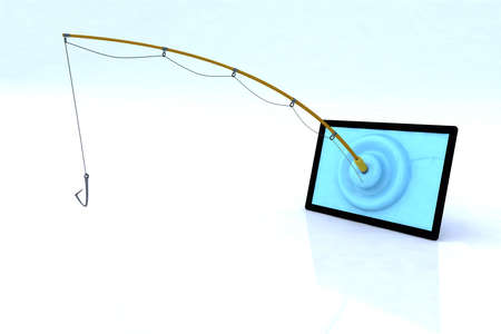 touch screen security concept 3d illustration Stock Illustration - 14766375