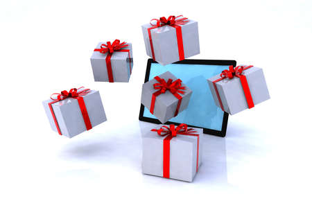 gifts that come from a tablet, xmas shopping online photo