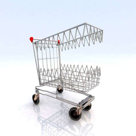 shopping cart that bites 3d illustration illustration
