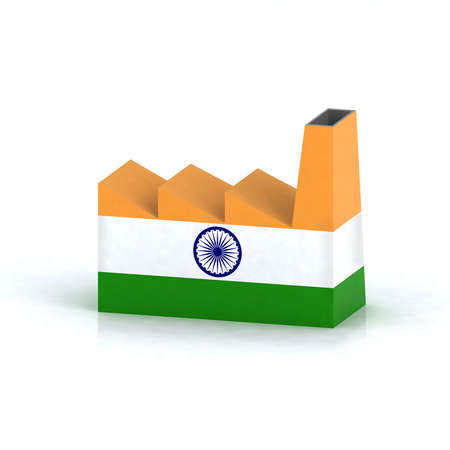Indian factory symbol concept 3d illustration illustration