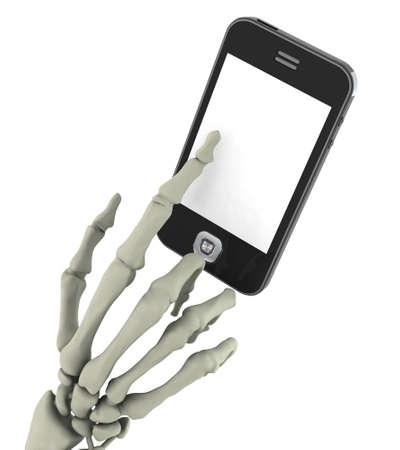 dangerous smart phone concept 3d illustration