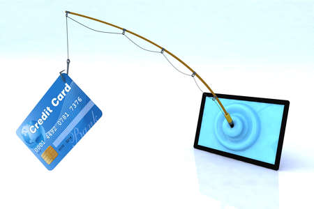 touch screen privacy security concept 3d illustration illustration
