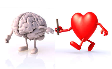 relay between hearts, the concept of organ donation or cooperation, exchange of expertise Stock Photo