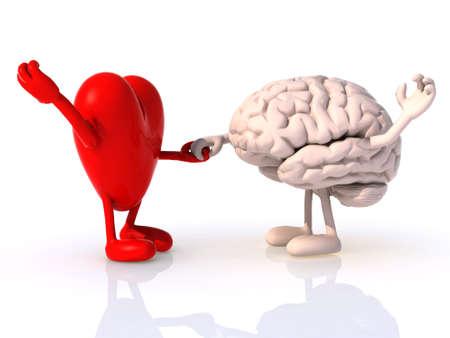 hart en de hersenen die dans, concept van fysieke welzijn