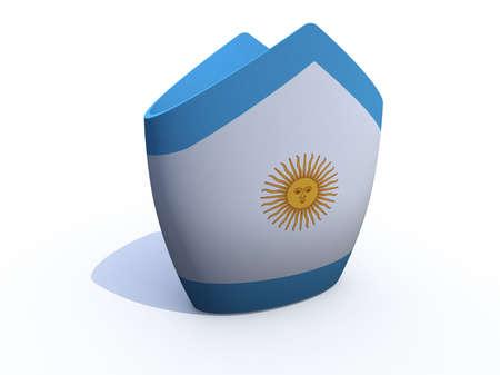 st  francis: Argentine Pope hat 3d illustration