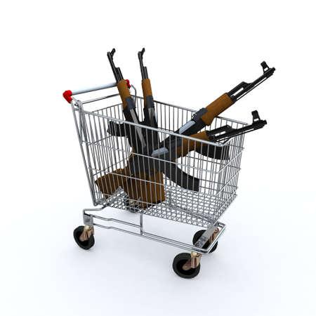 оружие: Корзина покупок загружается с kalashnicov для покупки, концепций рынка оружия