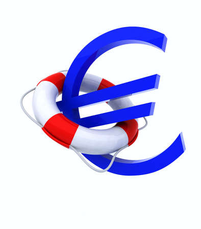 central bank: 3d concept problem of the crisis in Europe Stock Photo