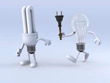 bombillo ahorrador: enlace entre la bombilla y la bombilla cfl, el concepto de innovación o de intercambio de conocimientos