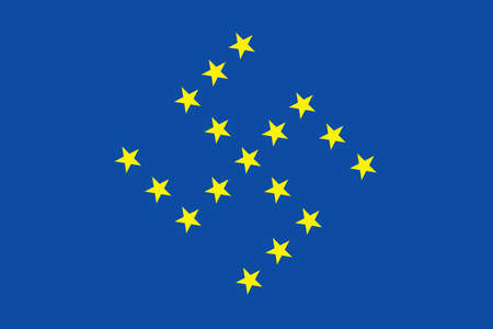 flag with swastika symbol photo