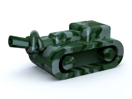 tank with knot in the cannon, stop the war, 3d illustration illustration